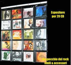 Espositore da parete per 20 CD  Formato Jewel Case