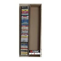 Contenitore scatola per 38/40 musicassette audio cassette - Q.ta 5
