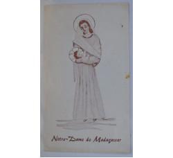 MADONNA - santino RICORDO MISSIONARI MADAGASCAR - Holy card