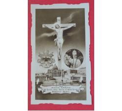 ANNO SANTO 1933 Pius XI - 19° secolo morte Gesù - santino eccellente