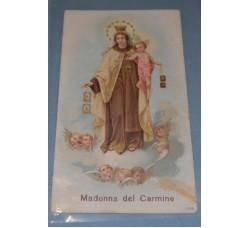 MADONNA del CARMINE 1898 - vintage Holy Card - Santino d'epoca