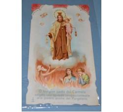 MADONNA del CARMINE Invocazione - vintage Holy Card - Santino d'epoca