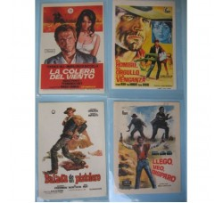 28 mini LOCANDINE, VOLANTINI - CINEMA FILM western (SPAGNA) anni 60-70