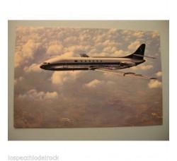 Aereo SABENA CARAVELLE - cartolina pubblicità Sabena IATA