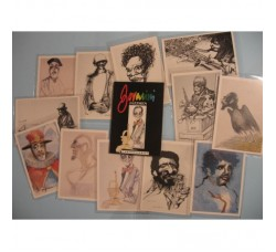 "BOVARINI ""JAZZMEN"" COFANETTO con 12 cartoline grandi del Jazz - nuovo"
