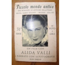 PICCOLO MONDO ANTICO film con A.Valli , 12 foto in custodia originale, 1941