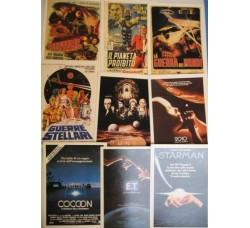 Film Fantascienza - 9 schede Ciak riproduzioni manifesti