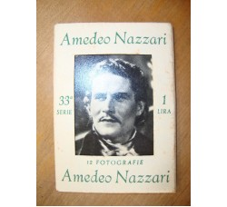 AMEDEO NAZZARI 12 foto con biografia, in custodia originale, cinema 1941