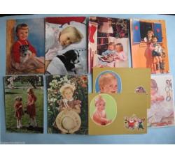 Bambini Augurali - 9 cartoline anni 50/60 - vedi foto e dettagli