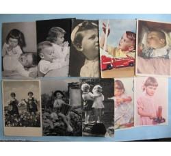 Bambini Augurali - 10 cartoline anni 40/50 - vedi foto e dettagli