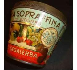 latta vintage a secchiello, Mostarda F. SEGALERBA Genova