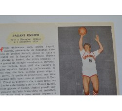 PAGANI ENRICO - figurina Pallacanestro n.1/2 Enciclopedia Sport 1959