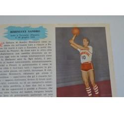 RIMINUCCI SANDRO fig. Pallacanestro n.3/4 Enciclopedia Sport 1959