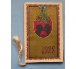 Almanacco profumato DOLCI BACI LANGUIDE CAREZZE 1928 calendarietto pubblicità Tschucor, Tosi