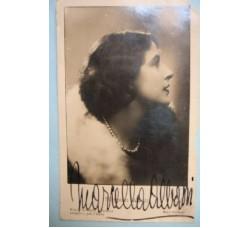 ALBANI MARCELLA - Attrice, foto cartolina con autografo ORIGINALE 1934