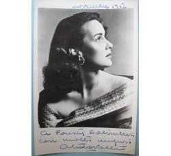 Alida Valli - foto con dedica e autografo ORIGINALE 1952 - bellissima!
