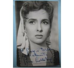 Gina Lollobrigida - foto con dedica e autografo originale 1953 bellissima