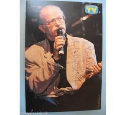 GINO PAOLI cartolina con autografo e dedica ORIGINALE