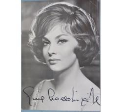 LOLLOBRIGIDA Gina, cartolina con autografo originale di pugno, anni 50