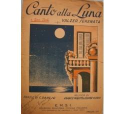 Elvira Florio - CANTO ALLA LUNA - Spartito musica autografo - 1945