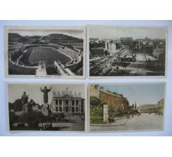 4 belle cartoline anni 30 di ROMA Stadio, via dell'impero, S. Giovanni, ... - vedi dettagli