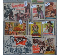 27 mini LOCANDINE, VOLANTINI - CINEMA FILM western (SPAGNA)