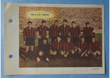 MILAN CALCIO 14 figurine schede ENCICLOPEDIA dello SPORT - 1959