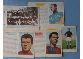 BOLOGNA CALCIO 5 figurine schede ENCICLOPEDIA dello SPORT - 1959