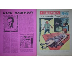 KREMOS TRAVASISSIMO supplemento 96 al TRAVASO 1955 Monografia N. Ramponi