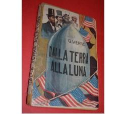 G. Verne - DALLA TERRA ALLA LUNA - vol. I°-II° - ed. Bietti 1919
