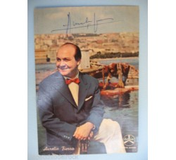 AURELIO FIERRO foto cartolina autografa ORIGINALE pubbl. Sanremo 1958