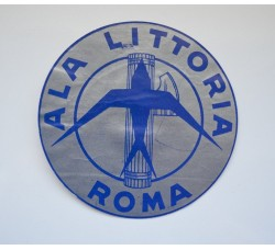 ALA LITTORIA ROMA etichetta adesiva - anni 30 fascismo original vintage