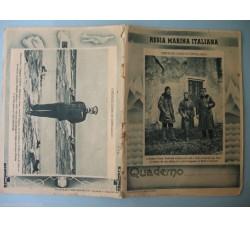 Costanzo Ciano, G. d'Annunzio, L. Rizzo - Quaderno Regia Marina WW2