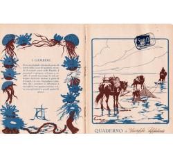 Copertina di quaderno - La pesca dei gamberi - anni 30