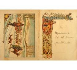 Copertina di quaderno - La renna in Lapponia - primi 900