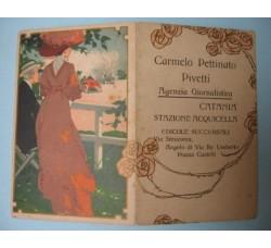 Calendarietto pubblicità Agenzia Giornalistica Catania - 1912