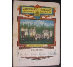JUVENTUS F.C. calcio DIV. NAZ. A - QUADERNO 1929-1930