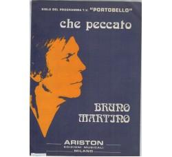 Bruno Martino -Spartito Musicale - Che peccato