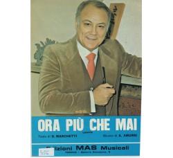 Claudio Villa - Spartito Musicale - Ora piu' che mai
