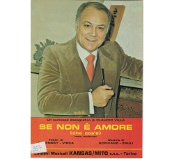 Claudio Villa - Spartito Musicale - Se non è amore (che cos' è)