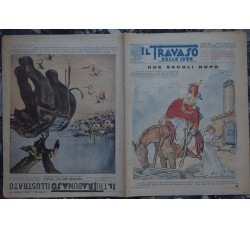 IL TRAVASO 1929 n.18 con falso TRIBUNA ILLUSTRATA al retro leggibile in 2 sensi