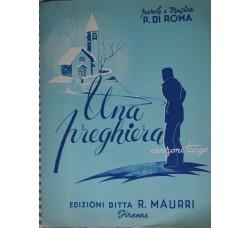 UNA PREGHIERA - Spartito - parole e musica Di Roma 1947 -