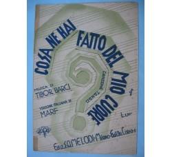 COSA NE HAI FATTO DEL MIO CUORE spartito musicale 1934 - Canzone Tango per Mandolino -