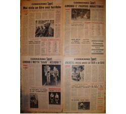 CICLISMO lotto articoli riviste sportive - Coppi in lacrime, Van Loy, Gimondi, Giro Dolomiti, Bobet, Anquetil,  ...
