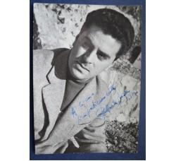 Raffaele Pisu foto pubblicitaria con dedica e autografo di pugno 1957