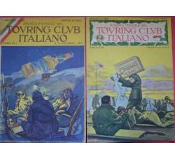 Dudovich 2 Pubblicità CAMPARI e CINZANO su copertine Riv. Touring 1915/16 - WW1