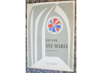 AVE MARIA - spartito musica canzone, di Gounod canto e piano - Ricordi 1955