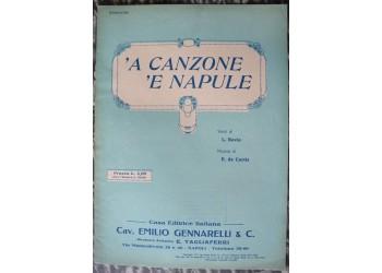 A CANZONE E NAPULE spartito musica canzone - di Bovio / de Curtis 1914