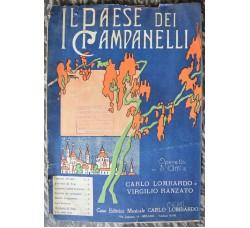 operetta Paese dei Campanelli - spartito musica canzone ROMANZA DI NELA