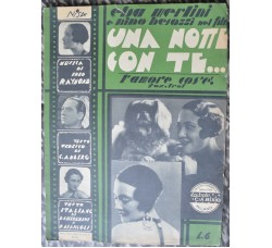 film - UNA NOTTE CON TE - N. Besozzi Elsa Merlini - 1932 spartito musica